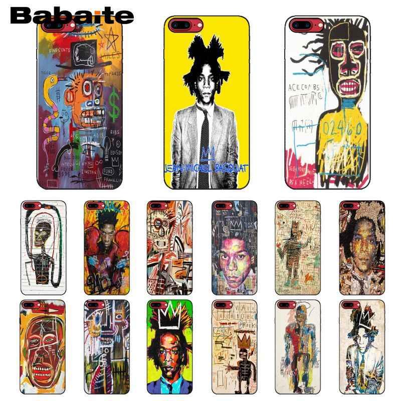 Babaite ニューヨークアーティストジャン · ミシェル · バスキアノベルティ Fundas 電話カバー iphone X XS 最大 6 6s 7 7 プラス 8 8 プラス 5 5S 、 SE XR