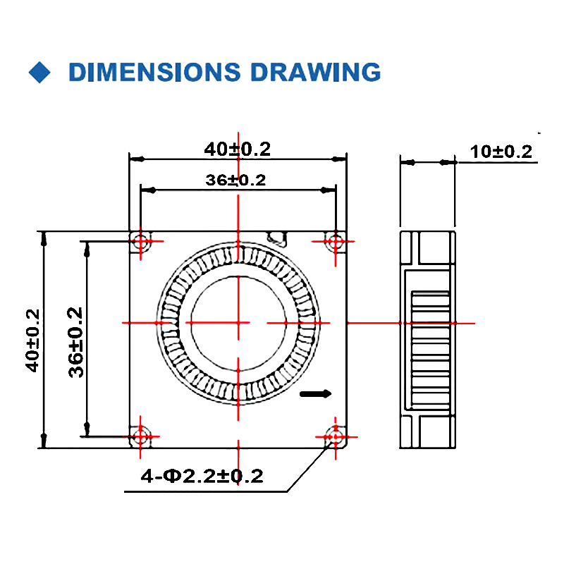 Купить с кэшбэком 5PCS Gdstime 4010 Blower 40MM 40x40x10MM 5V 12V 24V 2Pin DC Cooler Small Cooling Fan FOR 3D PRINTER PART