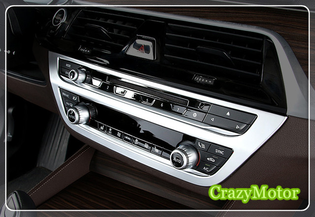 US $25 59 |For BMW 5 SERIES G30 2017 2018 Interior Central Console CD Panel  Control Air Condition Switch Cover Trim car styling-in Interior Mouldings