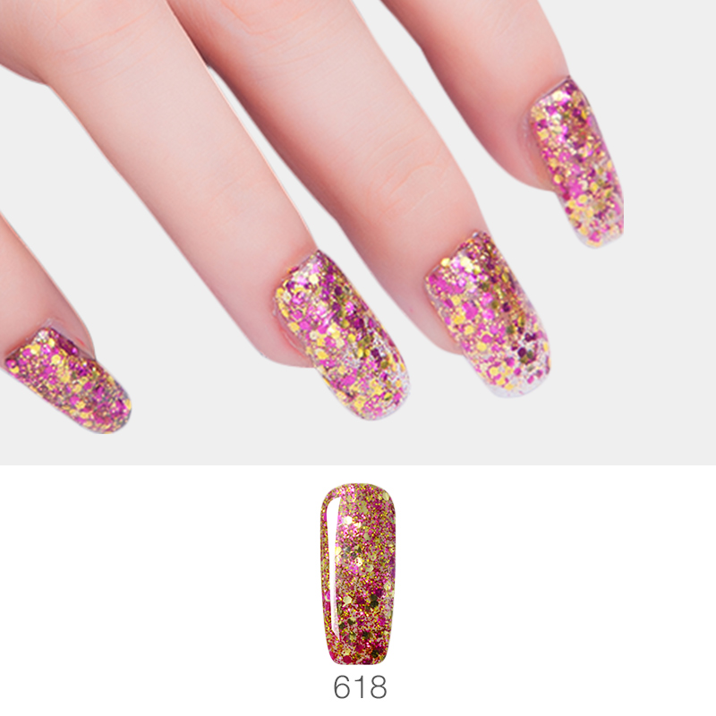 Vrenmol Super Bright 3D Diamond Hybrid Sequins Nail Gel Polish New ...