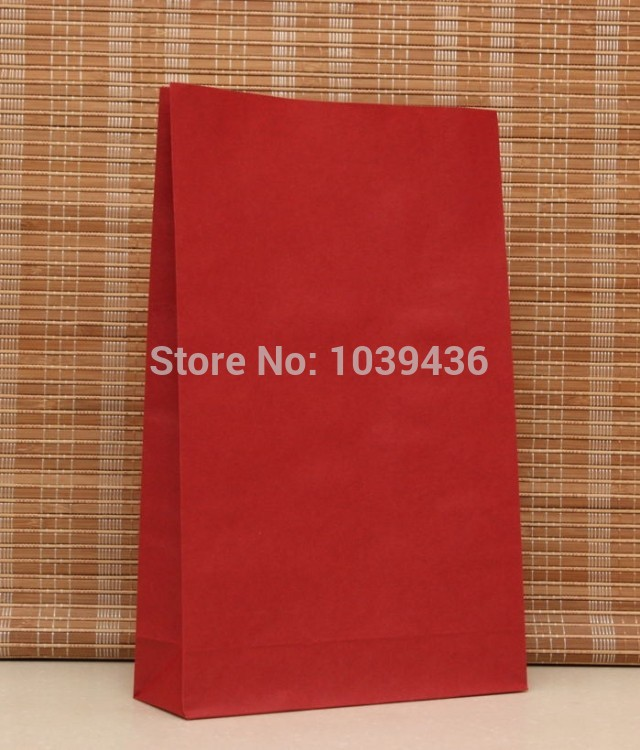 23x12x7.5cm 50pcs/lot Red Paper Bags Recyclable Party Favors Gift Bag Jewelry Food Candy Packaging Shopping Bags For Boutique
