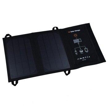 Высокое качество 5 В 7 Вт Портативный складной солнечный Зарядное устройство открытый Портативный Панели солнечные Зарядное устройство для...