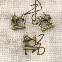 12 pçs encantos máquina de costura 15x12mm freeshipping antigo, liga de zinco pingente ajuste, vintage tibetano bronze, diy para pulseira colar