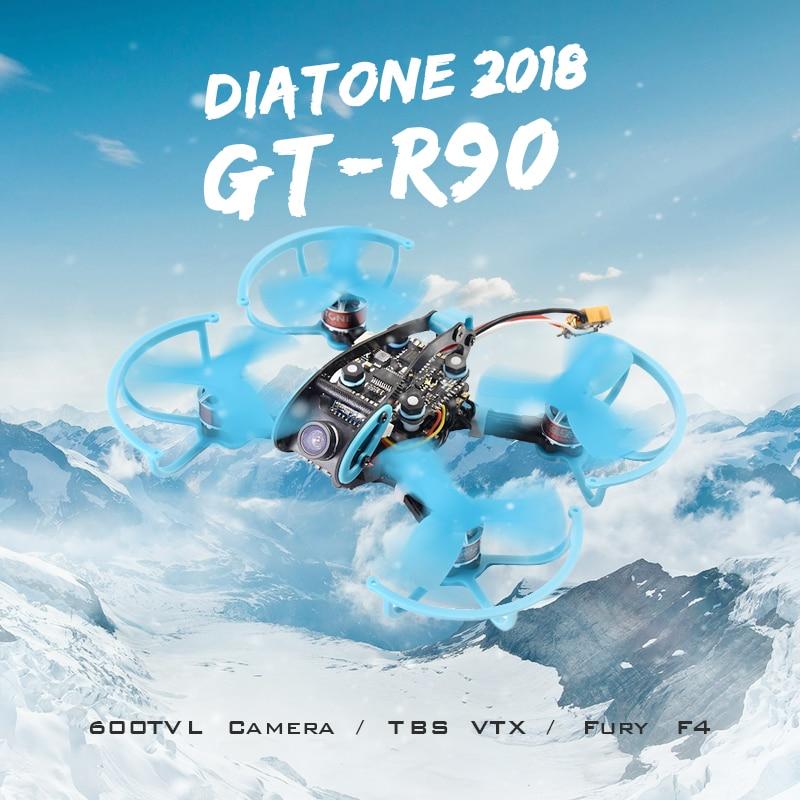 Diatone 2018 GT-R90 FPV Racing Drone F4 Integrated OSD TBS VTX G1 600TVL 15A BLHeli_S ESC RC Quadcopter PNP VS Eachine Lizard95 eachine wizard ts215 fpv racing rc drone f4 5 8g 72ch 40a blheli 32 720p dvr runcam swift 2 bnf pnp vs diatone 2018