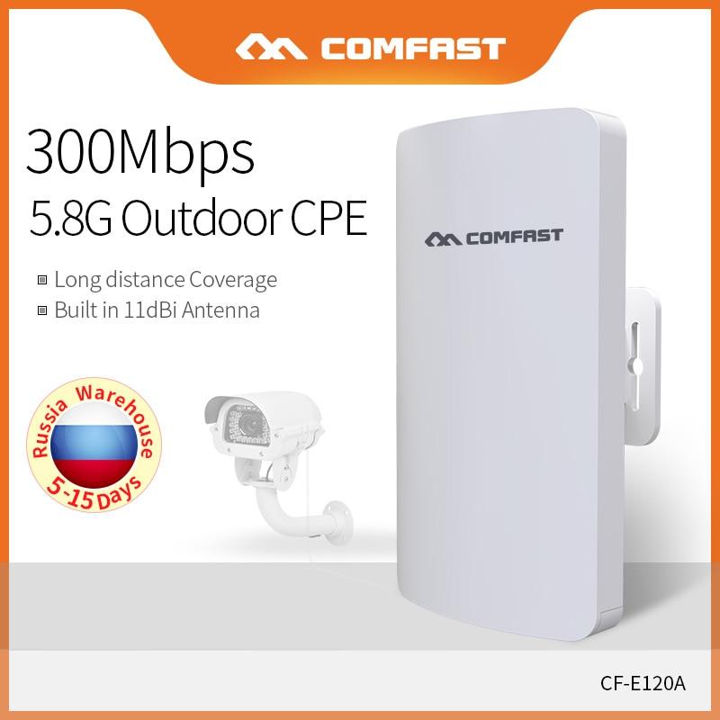 Comfast Mini 5.8GHz Outdoor Wireless CPE Bridge 1-2Km Long Range Network Wifi Router IP Camera Monitor W-ifi Antenna CF-E120A