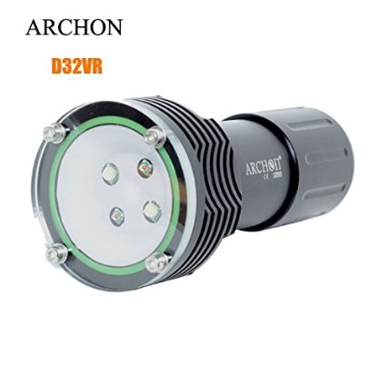 ARCHON D32VR 2*CREE XM-L U2 Diving Flashight Torch 60M Underwater 1400 lumen White LED video by 2 Battery and Charger d32vr underwater scuba diving video flashlight 2 cree leds blue light 2xcree xml u2 led white light 32650 battery charger
