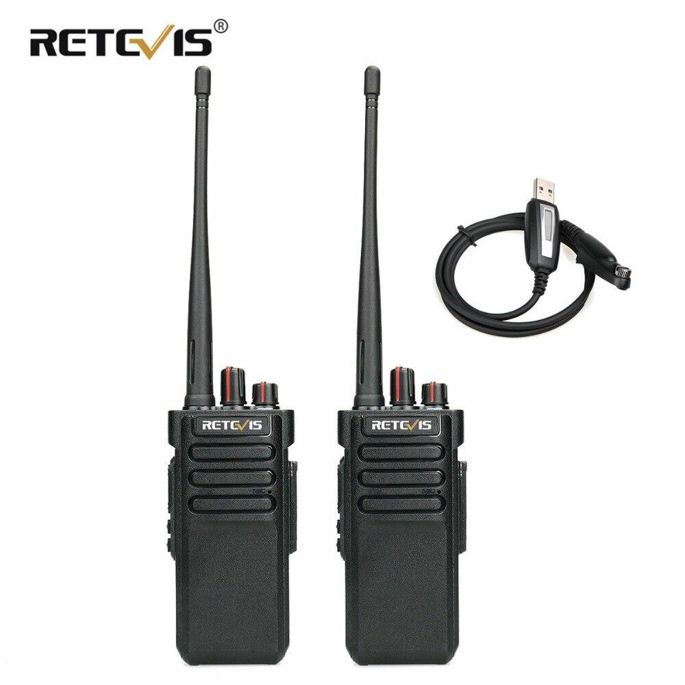 2 pz 10 w Potente Walkie Talkie Retevis RT29 UHF (o VHF) VOX A Lungo Raggio Radio Bidirezionale Transceiver IP67 Impermeabile (opzionale)