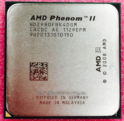 AMD Phenom II X4 980 3.7 GHz Quad-Core CPU Processor HDZ980FBK4DGM Socket AM3