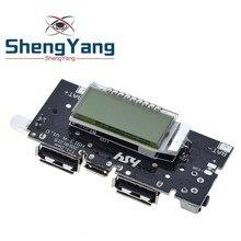 Двойной USB 18650 Батарея Зарядное устройство PCB Мощность модуль 5V 1A 2.1A мобильный Мощность банка аксессуары для телефона DIY светодиодный ЖК-дисплей зарядная Модульная плата
