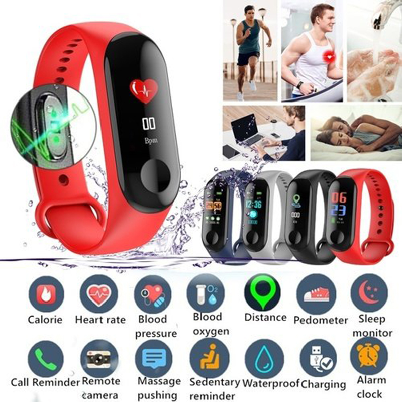 M3 Blood Pressure Oxygen Connected Watch Fitness Bracelet Activity Tracker Smart Watches M IP67 Waterproof Sport WristbandM3 Blood Pressure Oxygen Connected Watch Fitness Bracelet Activity Tracker Smart Watches M IP67 Waterproof Sport Wristband