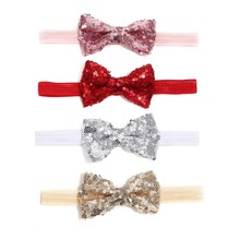 Delebao 4 Colors Fashion Hair Accessories For Baby Girls Butterfly-knot Bow High Quality Headband 0-2 Years Old Wholesale
