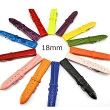 Free Tool Watchbands Women's Genuine Leather Watch Strap for men &women 18mm Watch Belt Watch Band