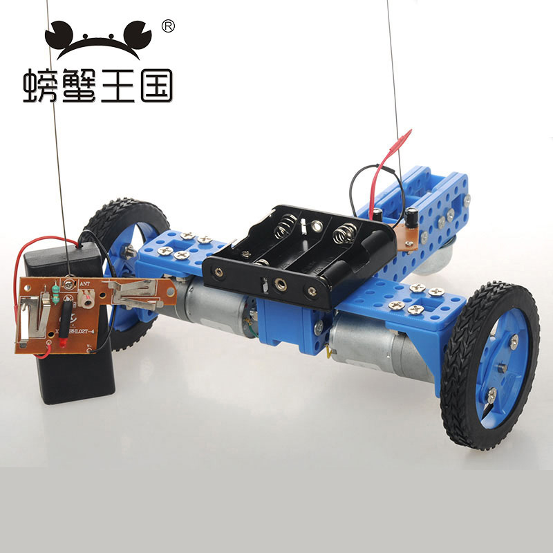 PW M20 DIY Mini RC Car with Remote Controller Universal wheel Technology Invention Funny Puzzle Education KD Car Toy wenhsin pw m25 diy mini rc tank with