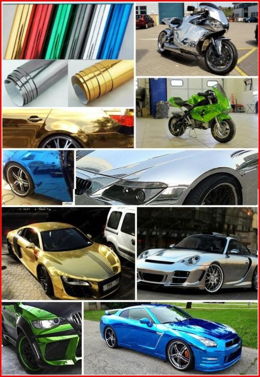Image 2 - Carcardo Chrome Vinyl Film Chrome Car Wrap Chrome Car Vinyl Warp Car Sticker With Bubble Free Auto Sticker Car Accessories-in Car Stickers from Automobiles & Motorcycles