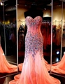 Luxo cristal de lantejoulas Sexy longo sereia vestidos de noite com pedras de strass vestidos de noite elegante Formal vestidos de festa
