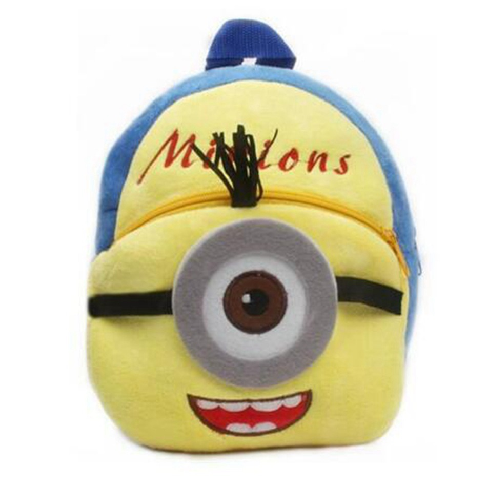 New-Cartoon-Cute-Minions-Children-Mini-Plush-Backpacks-Baby-Bee-School-Bag-toys-For-Kindergarten-Boy-Girl-Shoolbag-2