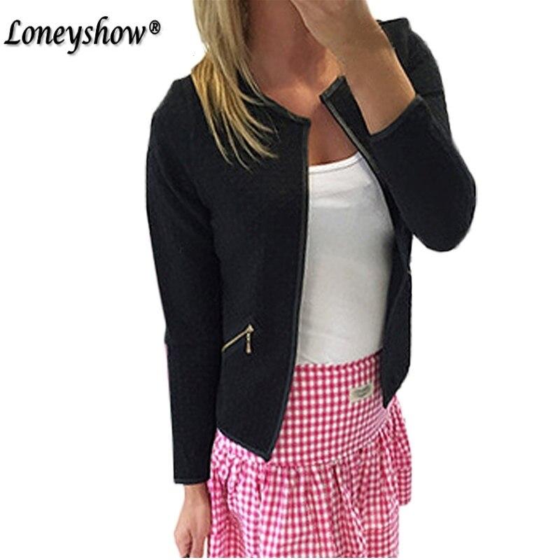 Women   Basic     Jacket   2017 Spring New Solid Zipper Bomber   Jacket   Cool Baseball Coat Black Chaquetas Biker Outwear Plus Size XXXL