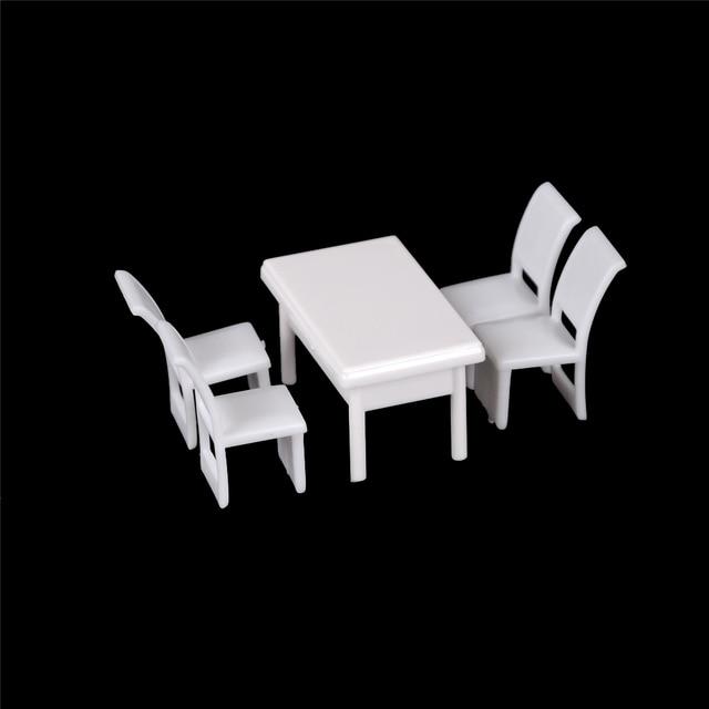 5 шт./компл. 1:50 кукольный домик мебель игрушки обеденный стул набор мебели для столовой для кукольного дома кухонная миниатюры еды