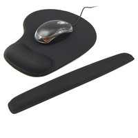 Mouse Pad Keyboard Mat With Wrist Rest Soft Silicone Mouse Mat Ergonomics Mice Pad For Office