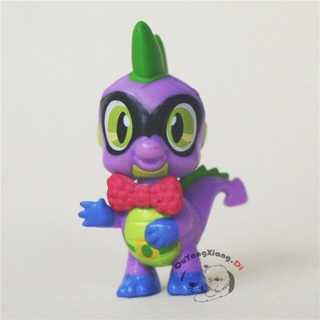 Figuras de ação 5 cm Bonitinho Cavalo Modelo Boneca Anime Brinquedos Super Spike O Dragão laço Vermelho e Preto olho Brinquedos para As Crianças