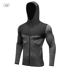 Hooded Running Jerseys Long Sleeve Mens Outdoor Sports Winter Sweatshirt Quick Dry Clothing Shirts Fitness Gym Jacket Wind Coat