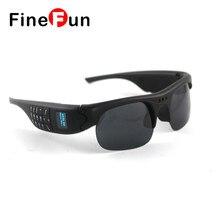 FineFun Bluetooth gafas de Sol DVR Mini DV Audio Video Recorder Videocámaras Video Camara MP3 player Gafas Inteligentes TF Tarjeta de Teléfono