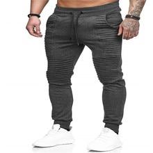 2018 new men's casual pants solid color khaki breathable summer large size multi-pocket long pants stitching men's fashion casua