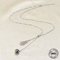 Necklace Pendant Findings S925 Sterling Silver Necklace Chain Settings Jewelry Parts Fittings Jewelry Making Charm Accessories