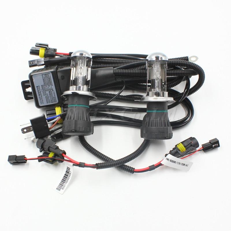 2x 55W Car Xenon Headlight H4 9003 Hi/Lo Bi-Xenon HID Repalcement Bulbs & Wire Harness AC 12V 4300K 6000K 8000K 10000K акустические кабели atlas hyper bi wire 2 to 4 5 0m transpose z plug gold