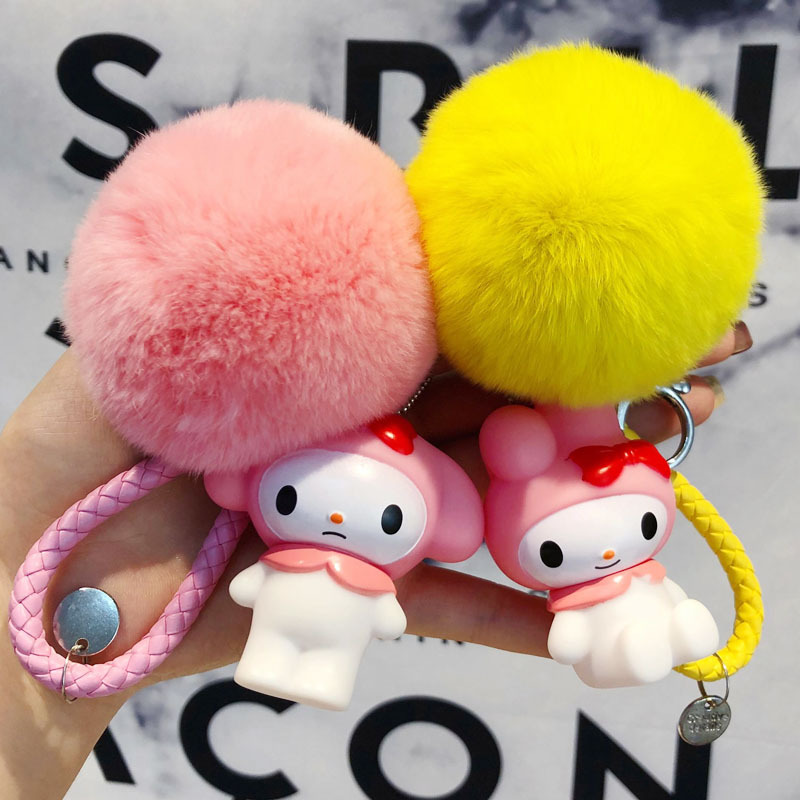 Anime Cute Melody Hair Ball Keychain Key WholesaleFunko Pop Rock