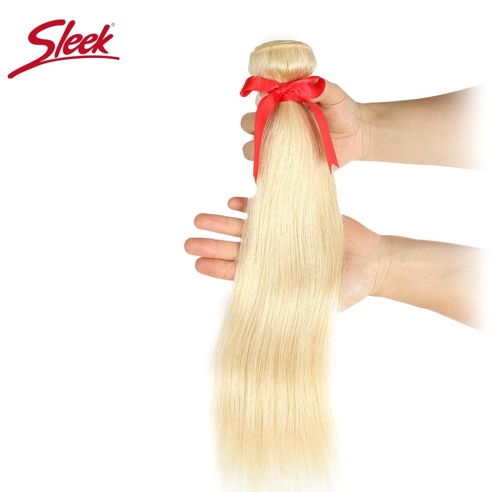 Sleek Mink Brazilian Hair Weave Bundles 10 To 26 Inches Straight Human Hair Extension Honey Blonde 613 Color Remy Hair Bundles
