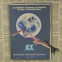 E.T. alien classic science fiction cartoon movie children's study retro nostalgic kraft paper posters retro poster 30x21cm