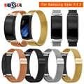 Bracelet en acier inoxydable bande de boucle magnétique milanaise pour Samsung Gear Fit Bracelet de montre intelligente 2 SM-R360 pour bracelets de montre Gear Fit2