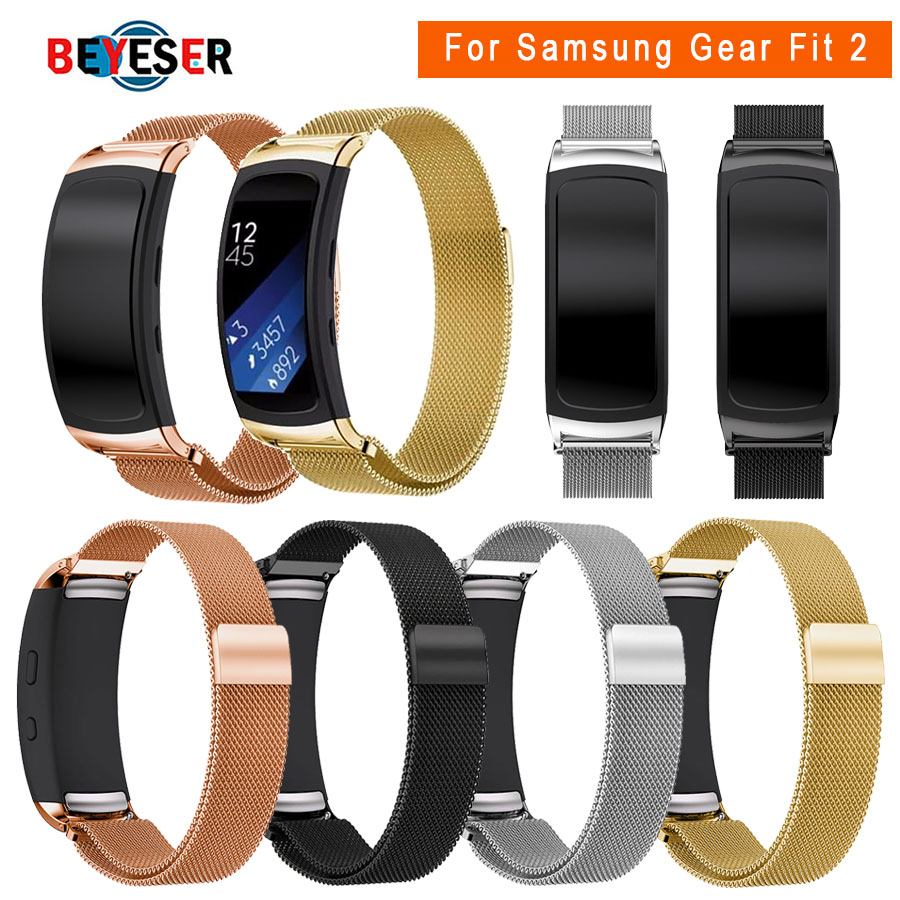 Stainless Steel Bracelet Milanese Magnetic Loop Band For Samsung Gear Fit 2 SM-R360 Smart Watch Strap For Gear Fit2 Watchbands