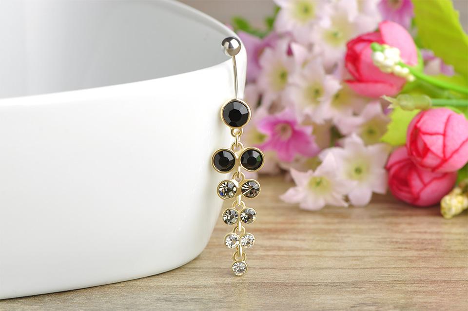HTB1sD7ERVXXXXXpaXXXq6xXFXXX5 Exquisite Orchid Crystal Bouquet Long Pendant Navel Ring For Women - 3 Colors