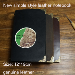 New handmade genuine journal leather travelers notebook writing pads kraft paper high quality spiral  school supplies notebook
