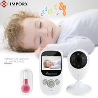 IMPORX New Baby Monitor 2.4 Inch LCD Wireless Baby Camera 2X Baby Phone Night Vision Security Camera Two way Talk Bebek Telsizi