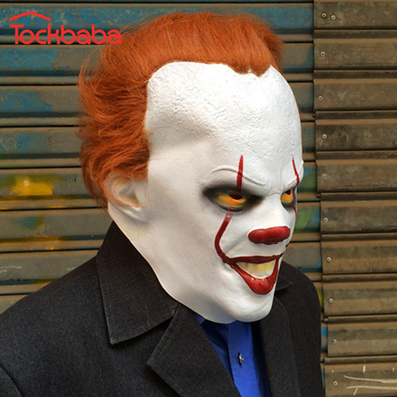 1pcs Tockbaba 2018 Hot Clown It Mask Halloween Horror Scary Clown
