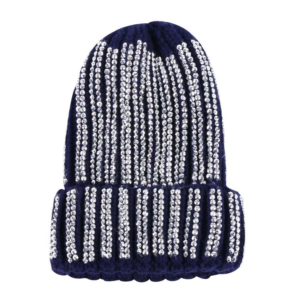 88d2795902c women luxury winter hat brand beanies girl fashion skully skullies knitted  cotton bling rhinestone casual thermal winter hats-in Skullies   Beanies  from ...