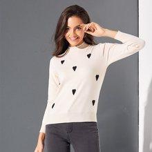 Boho Casual Winter Sweet Simple Plus Size Women Sweaters Slim Pullover Heart Print Fall 2019 Elegant Female Chic Tops