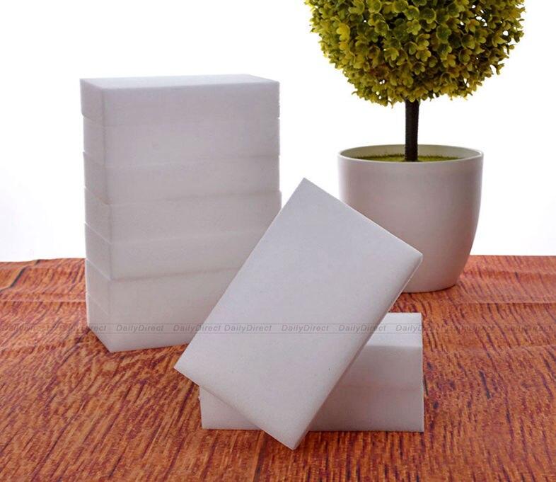 50 teile/los Melamin Schwämme Fleckenentferner Reinigung Pad Magie Schwamm Schaum 3,9x2,3x0,8 zoll/10x6x2 cm multifunktionale Radiergummi