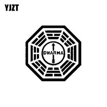 YJZT 15CM*15CM Lost Dharma Initiative Personality Vinyl Car Sticker Black/Silver Decoration Decal C11-1221(China)