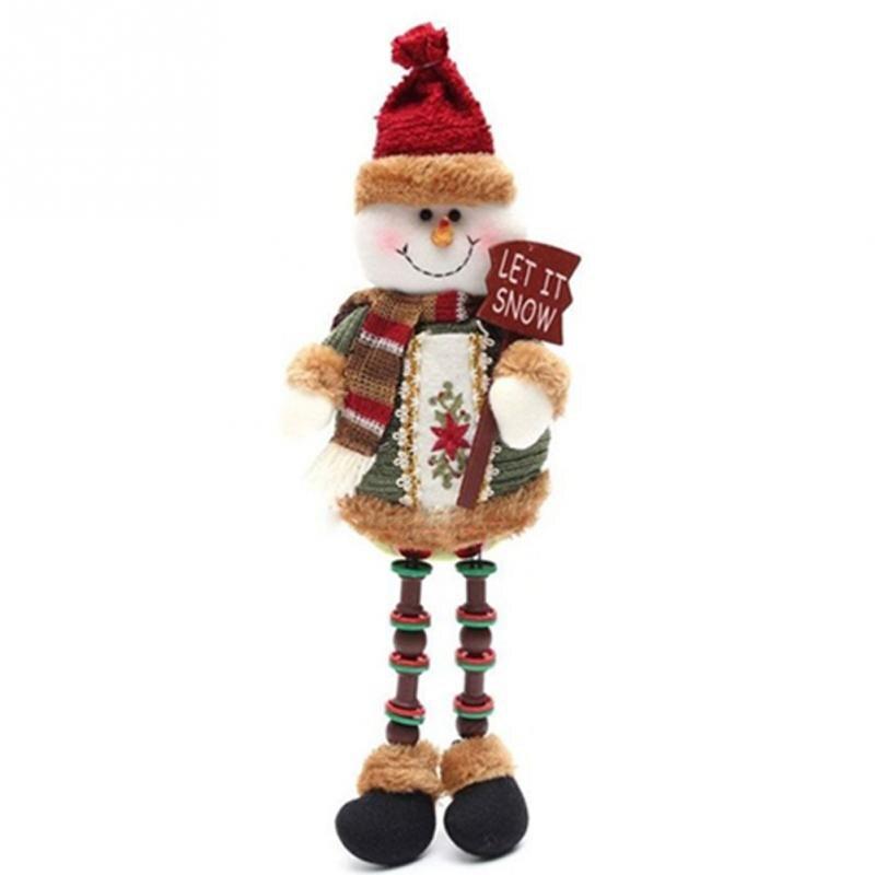 Nueva llegada 3 patrones Navidad muñeca Decoración muñecos de nieve ...