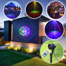 Big Casing Outdoor Waterproof RGB Laser Light Christmas Lights Projector Garden Lawn Landscape Decorative Lighting 12 Patterns