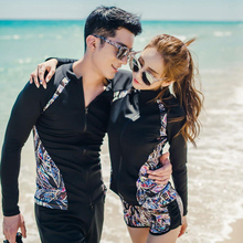 Rhyme Lady new arrival Long Sleeve Swimsuit Surfing Suits three pieces/four pieces rash guard couple sun protective beachwear