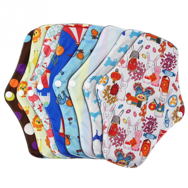 25.5x18 Cm Menstrual Pad Reusable Washable Bamboo Cotton Cloth Panty Liner Washable Reusable Menstrual Cloth Towel Pads Soft
