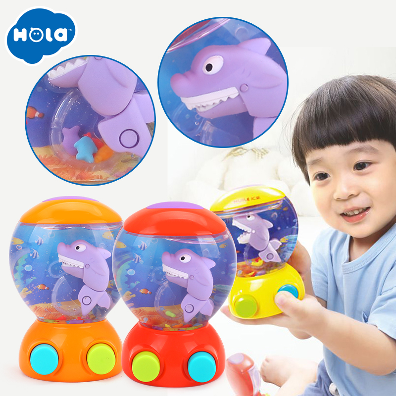 HOLA 3110 Baby Bath Toys Water Toys Shark Fish Hunt Toy Kids Bathroom Game Play Set Early Educational Toys for Children