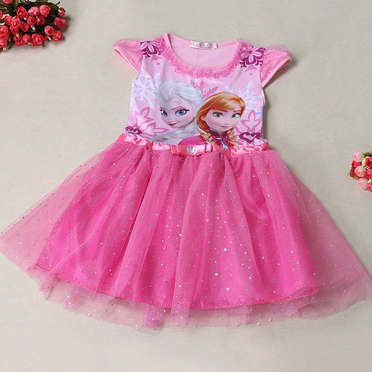 New Elsa Anna Girls Dress Cosplay Party Kid Dresses Princess Children Clothing Baby Kids Vestidos Toddler Girl In From Mother On
