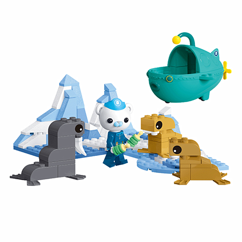 The Octonauts Barnacles Rescue Walrus Cub Figure Building Blocks Sets Bricks Classic Model Kids Toys Gifts Compatible Legoings