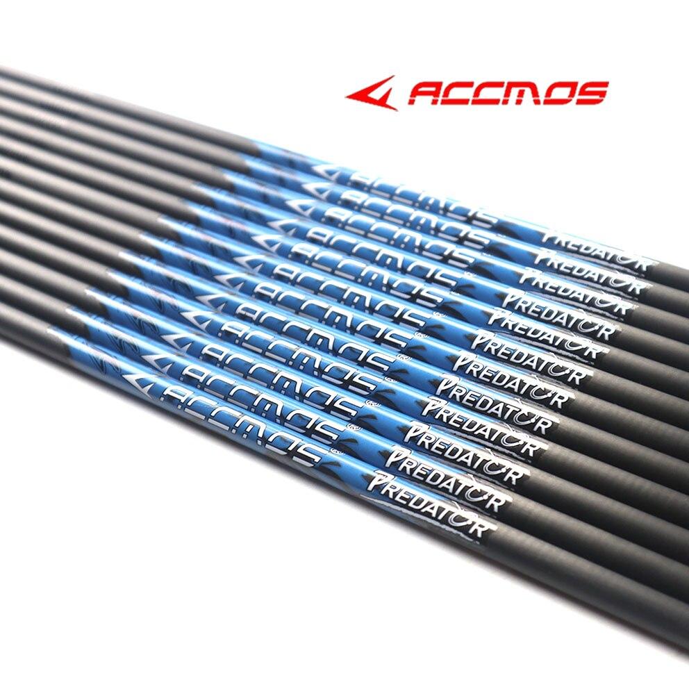 12pcs ID 4.2 มม.32 นิ้ว inch 300/350/400/500/600/700/ 800/900/1000 Pure คาร์บอน Arrow SHAFT Arrow อุปกรณ์เสริมสำหรับลูกศร DIY